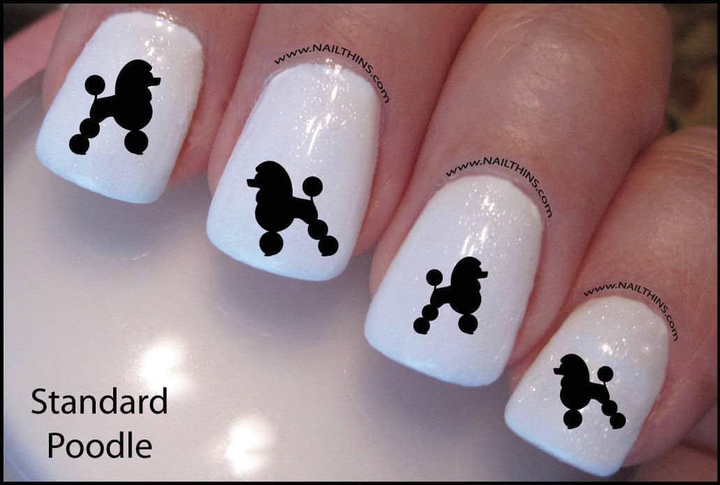 Baby Poodle dog nail idea