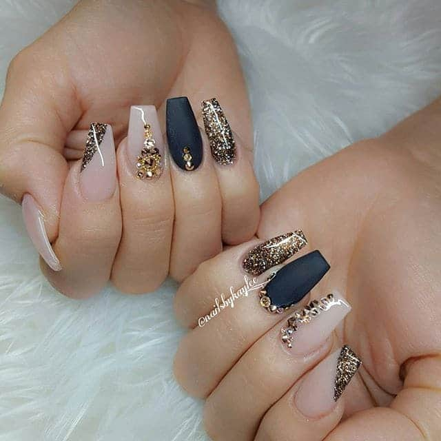 Frisky Chic Beige Nail design you love