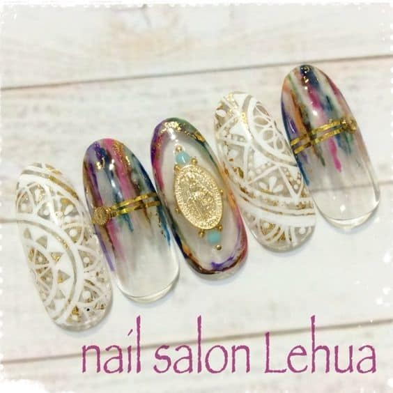 pretty Hippie Nail Design idea