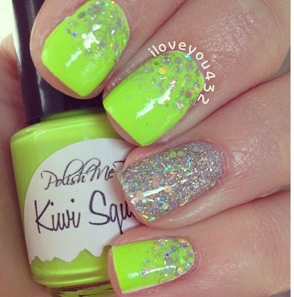 beautiful Lime Green Nail design