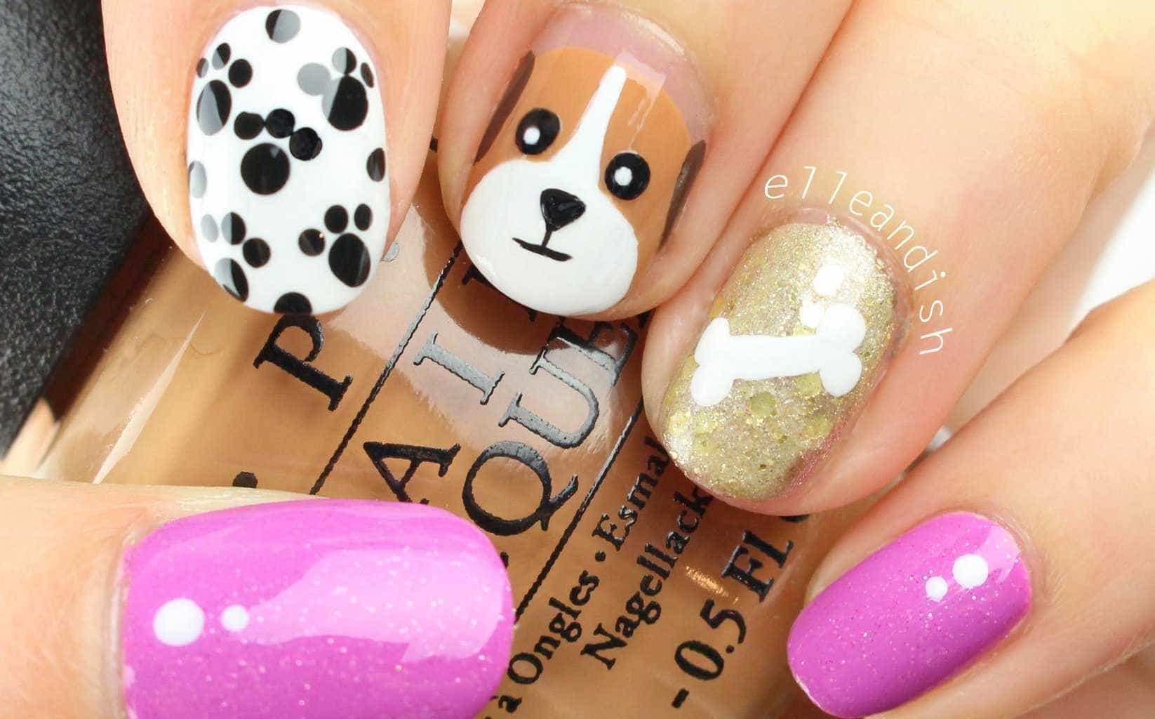 Cute little Doggy Nail arts