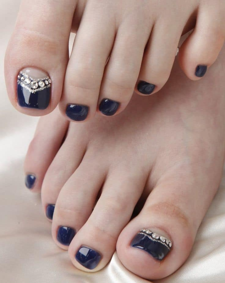 Blue Pedicure Nail art for girl