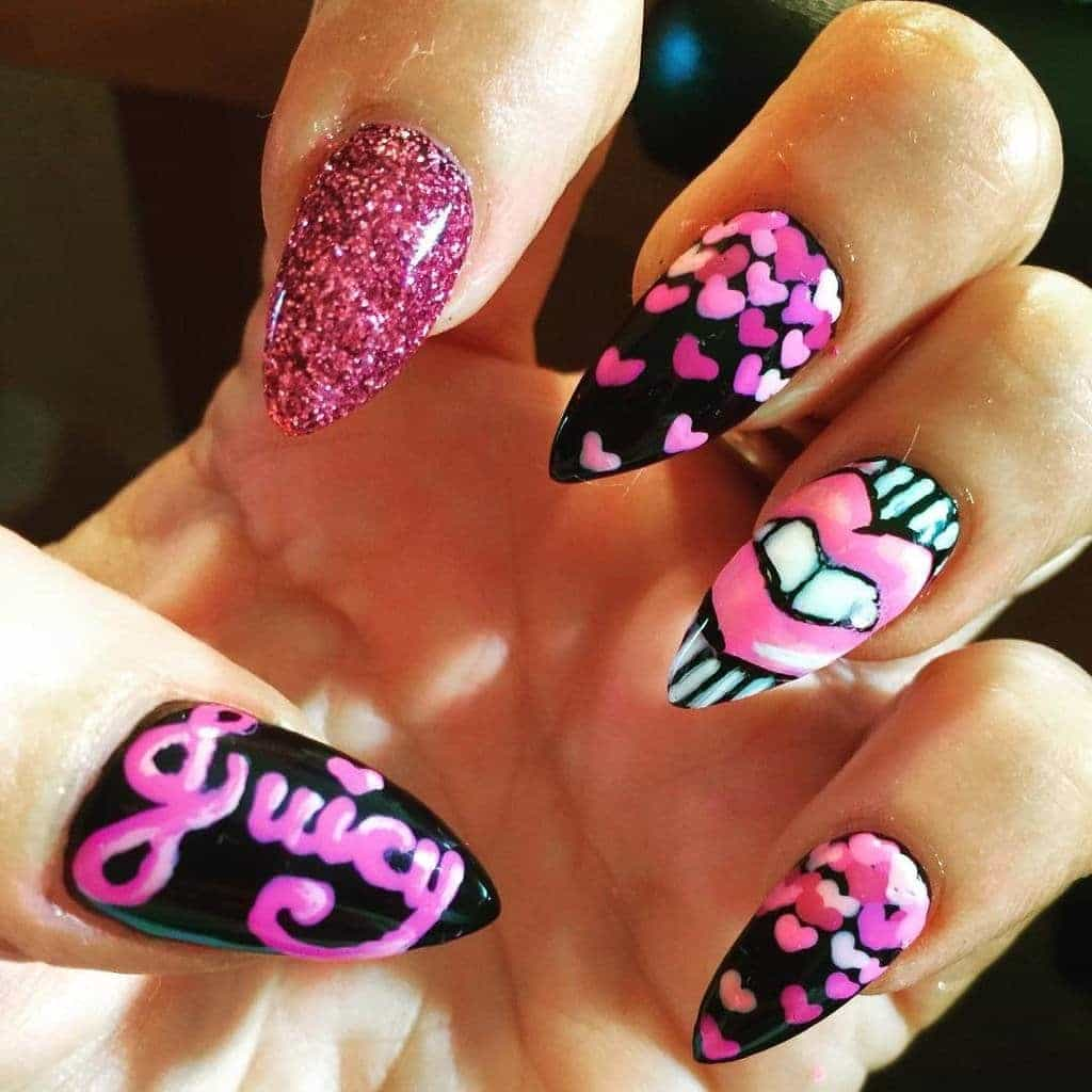 love icon Funky Nail idea for girl