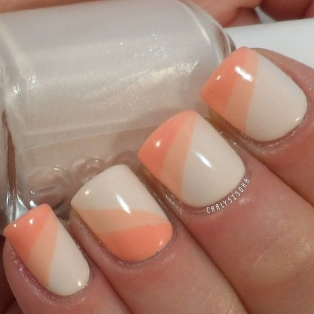 "Peach Nail Design. "" - 20 Stylish Peach Nail Designs For Christmas Eve – NailDesignCode"