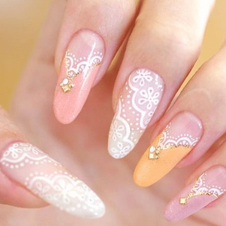 Since lace is so elegant and gracious looking, make sure you treat your  nails with care and with the right nail and hand treatments. - 20 Sparkling Lace Nail Designs To Shine – NailDesignCode