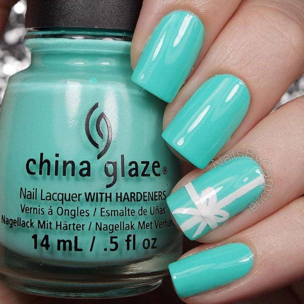 Square Tiffany Blue Nail Design - 20 Posh Tiffany Blue Nail Polish Designs – NailDesignCode