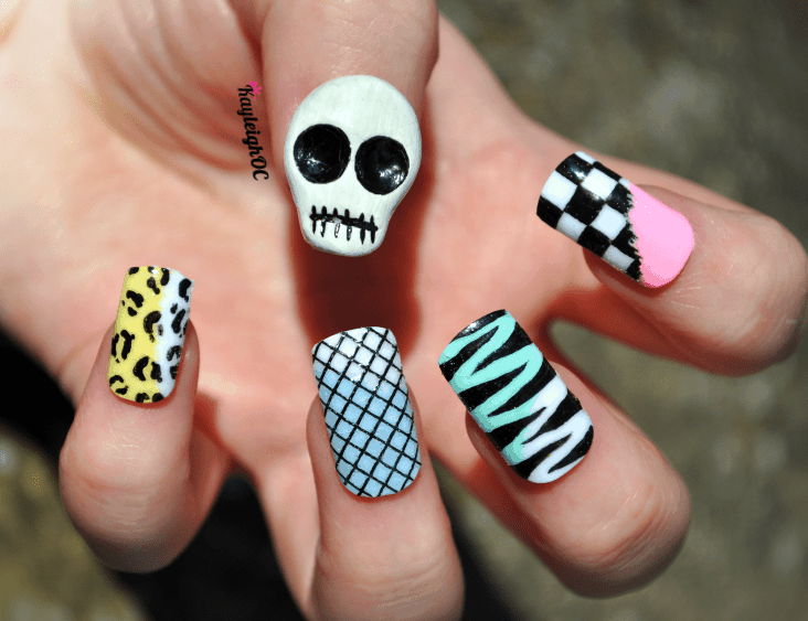 Funky Nail Design - 20 Funky Nail Designs That Are Totally Adorable – NailDesignCode
