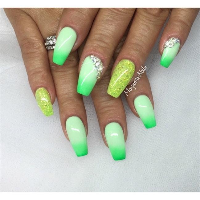 Lime Green Nail