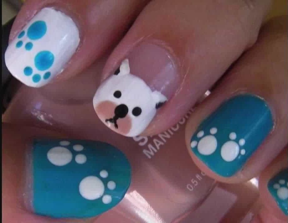 Little Pit Bull with dog nail idea