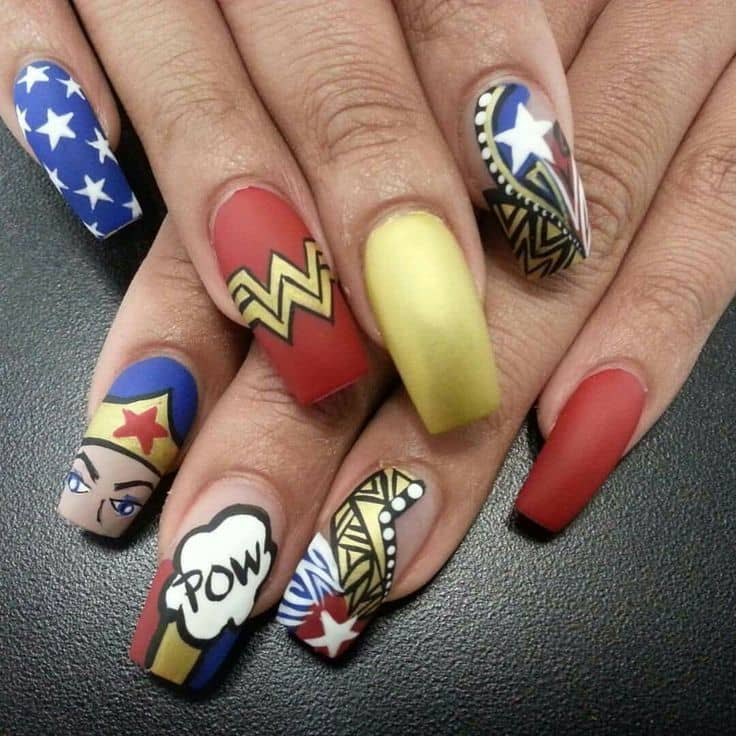20 funky nail designs that are totally adorable naildesigncode 6 party in the usa nails prinsesfo Choice Image