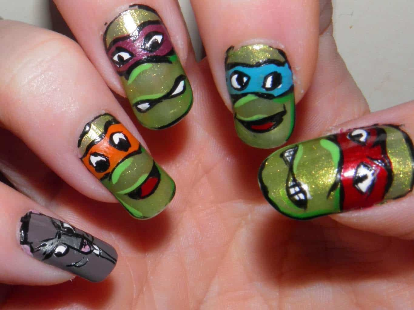 Animal print nail designs try out these 20 ideas naildesigncode 6 teenage mutant ninja turtles animal print nail prinsesfo Gallery