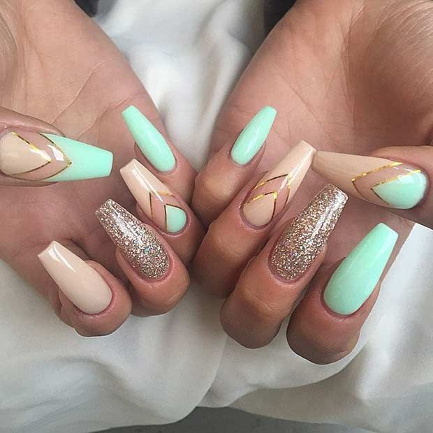 Light color Chic Beige Nail