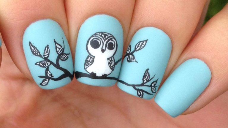 25 Irresistible Owl Nail Designs You Will Cherish