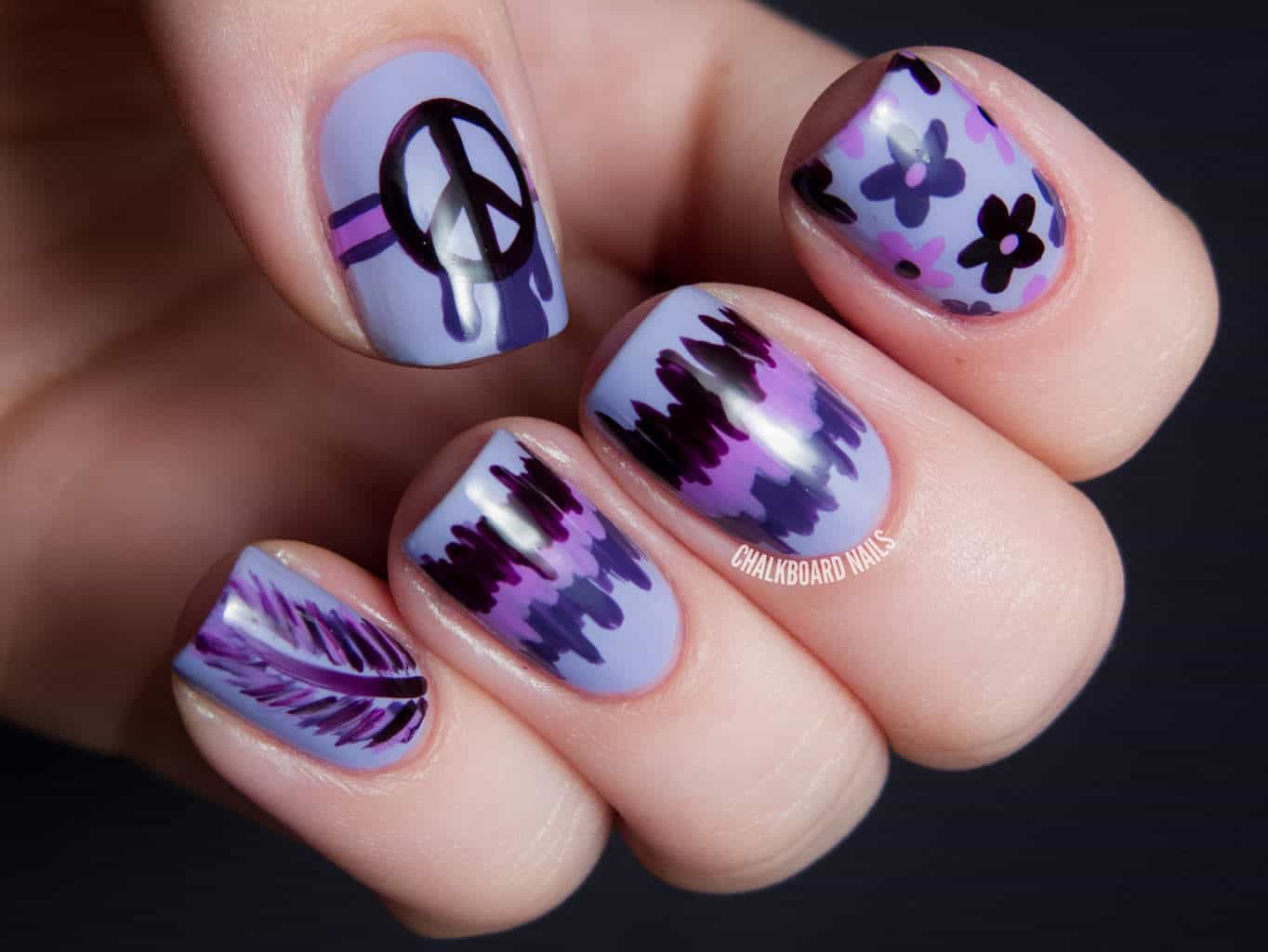This Purple Manicure Has Been Done On The Natural Nails And We Love It Sometimes You Need To Let Your Breathe Relax From All
