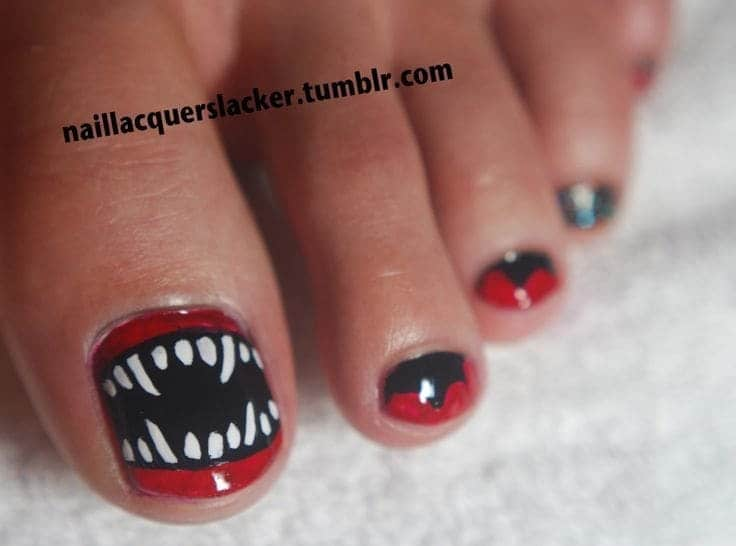 Halloween Toe Nail Pedicure
