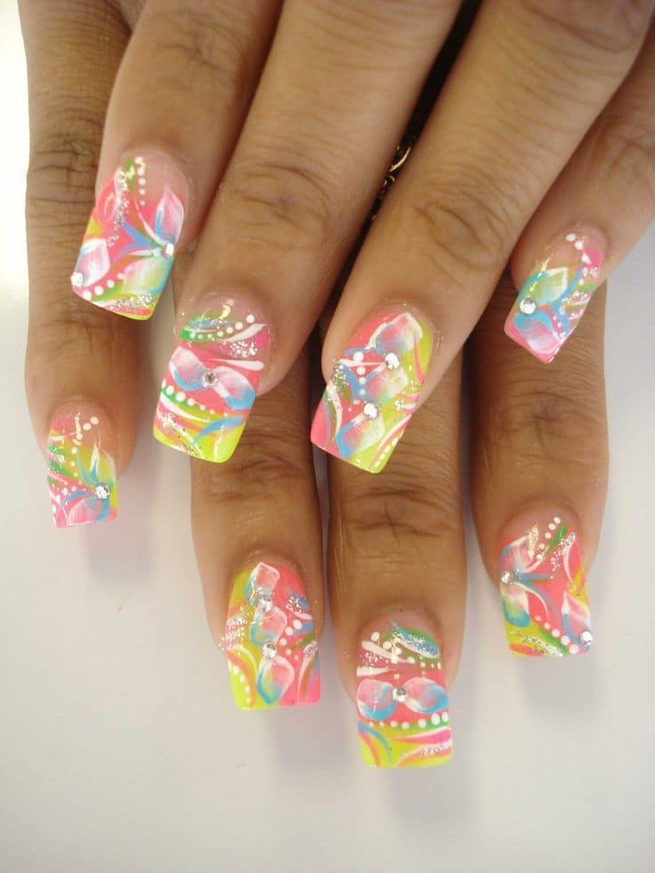 Soft And Elegant Funky Nail Design