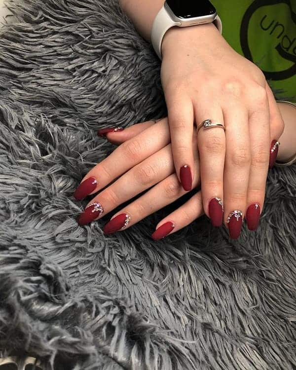 Burgundy Red Nails