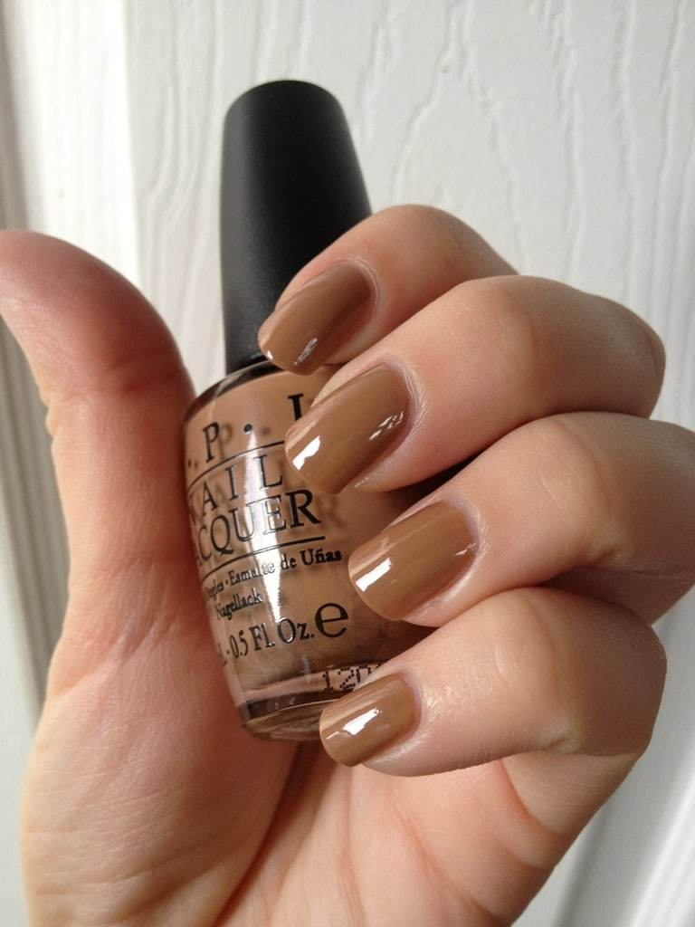 Dark tan Nail Idea for Women
