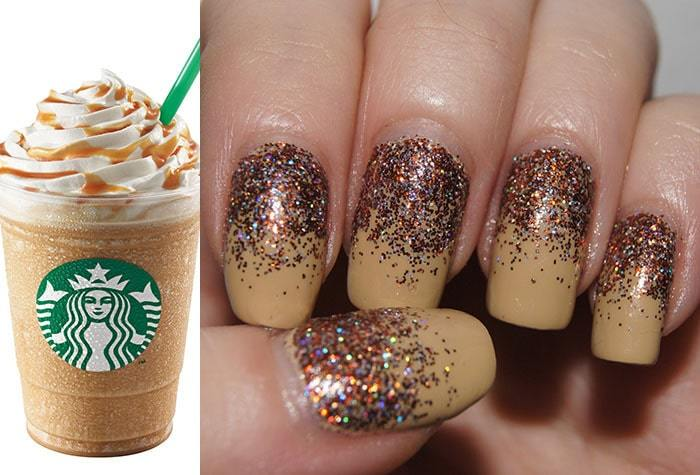 Coffee Color Tan Nail Art