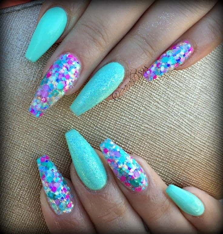 best Mermaid Nail Design for girl