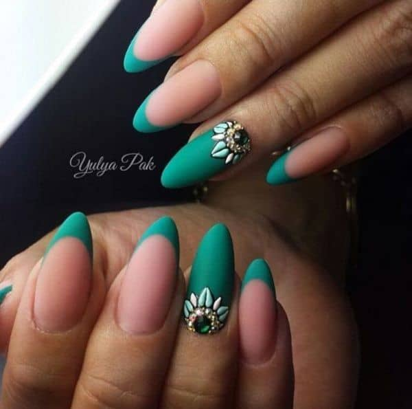 e34b5b02859fc896e2caee79f2c8dc1f-almond-nails-designs-matte-almond-nails -matte.jpg - 30 Best Almond Shaped Nail Designs To Sneak The Peek