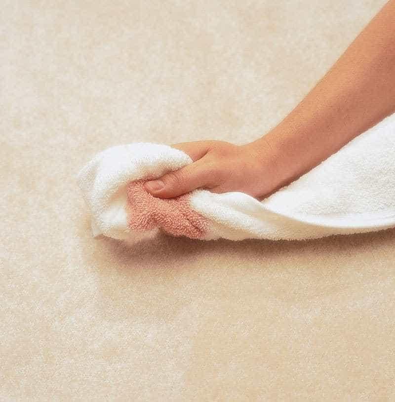 nail polish removal from carpet