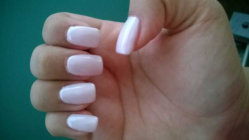 White Gel Manicure