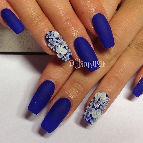 Party Blue Nails