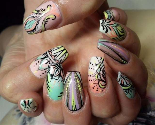 Stunning Colorful Nail Art