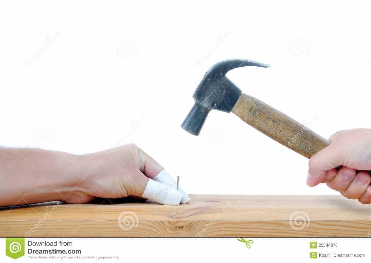 Nail Injure by a Hammer