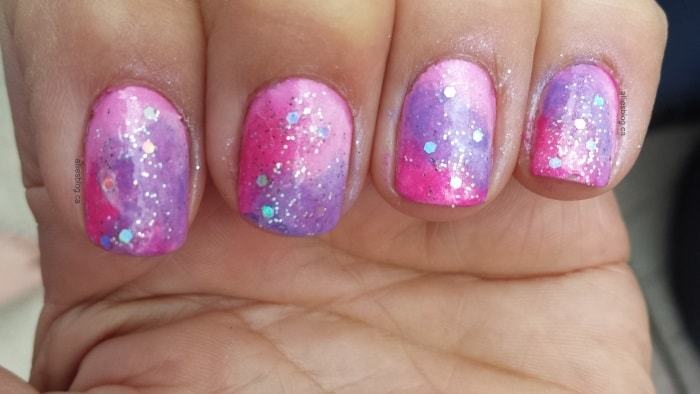colorful Galaxy Nail idea