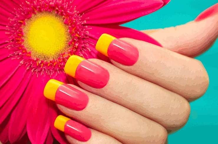 color full Solar Nail design