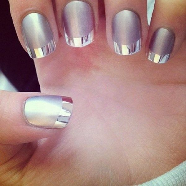 Gray Matt Manicure