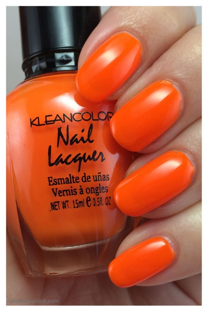 orange nail idea