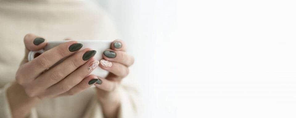 Dark Matte nail design