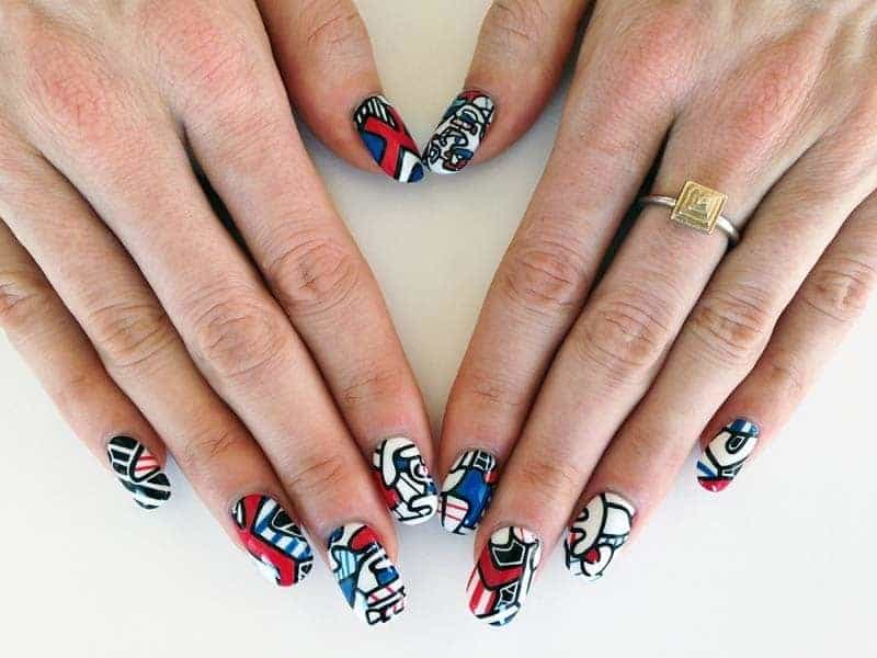 Marvel nail design for girl