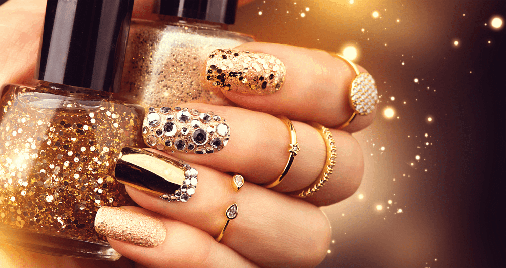 Bling Party Nail design