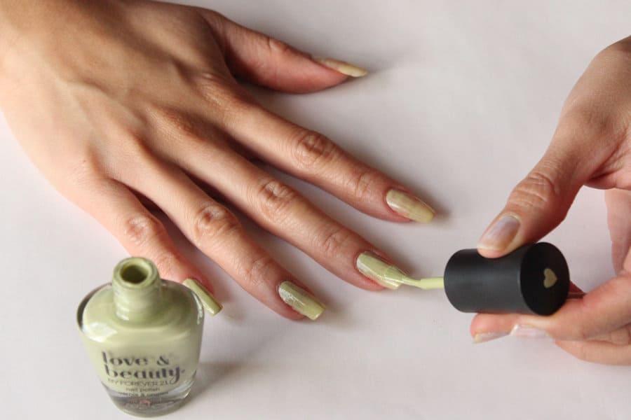first coat of nail polish