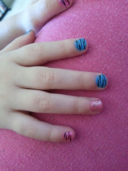 colourful nail idea your little girl