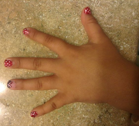 Polka Dots with nail design idea for women