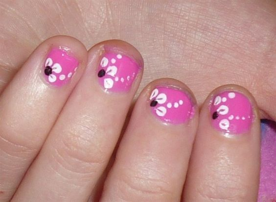 lovely nail design for little girl