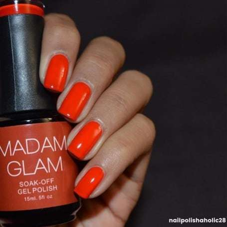 orange Candy Apple red nail color