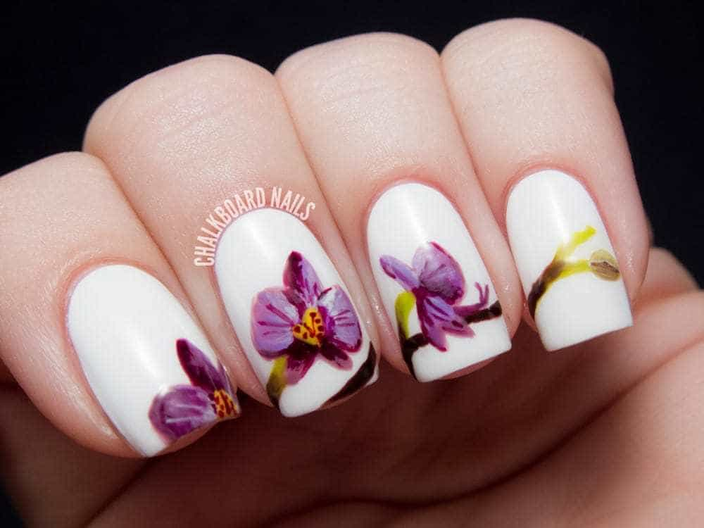 Spring flower inspired nails