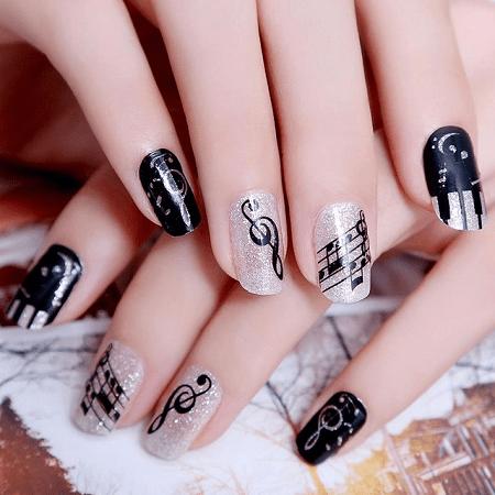 More Amazing Music Note Nail Designs to Fall in Love - 20 Coolest Music Note Nail Designs You'll Love – NailDesignCode