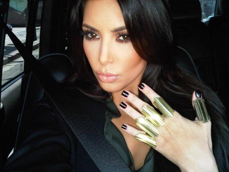 Kim Kardashian Black Mini Nail design