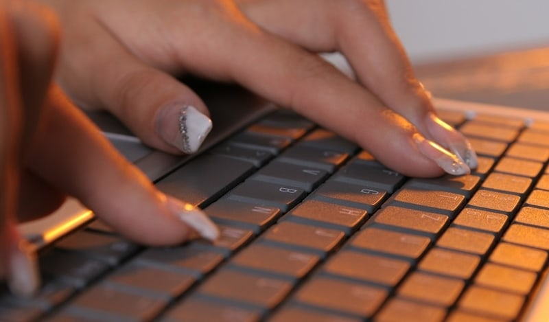 Typing with Your Fake Nails
