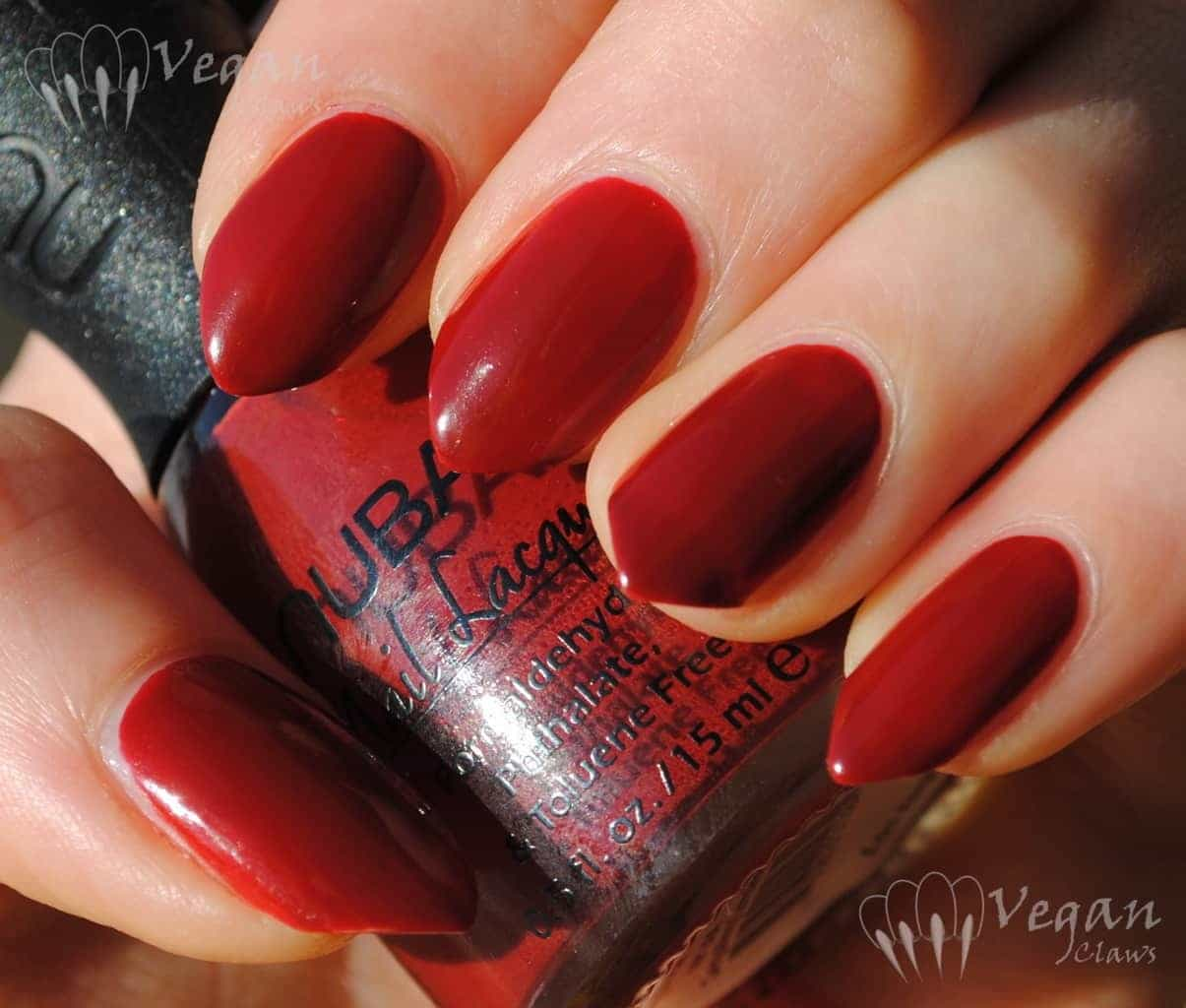 original red color nail design