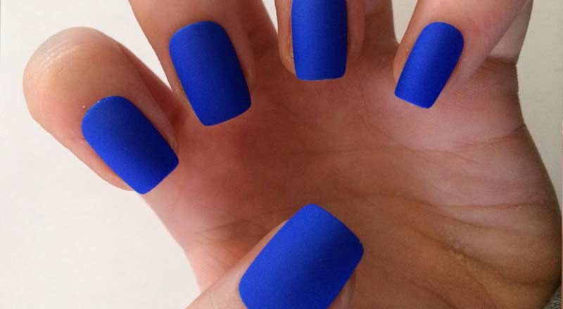 Matte blue Nail Polish