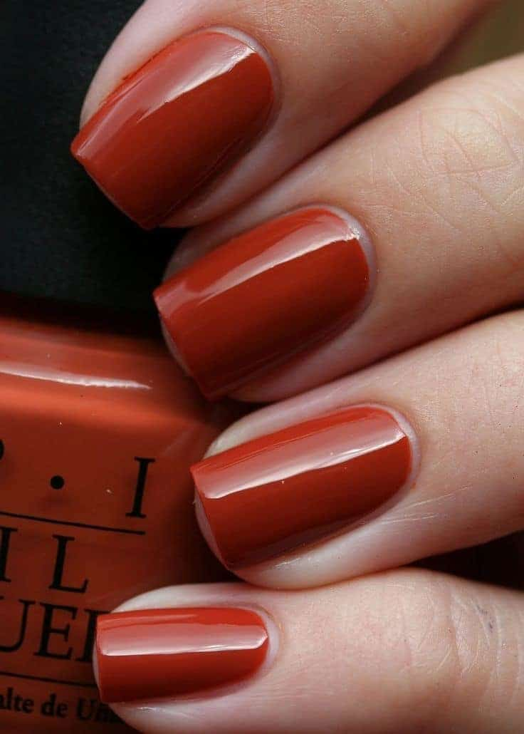 super hot vermillon red nail idea