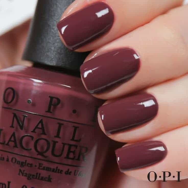Shiraz red wine color nail